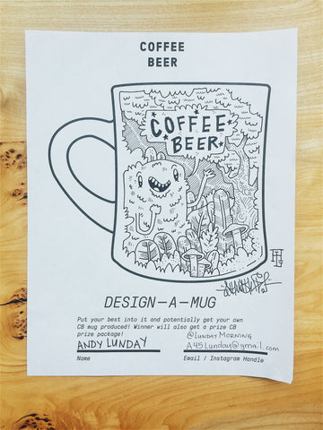 Coffee Beer Coloring Book Sample Page