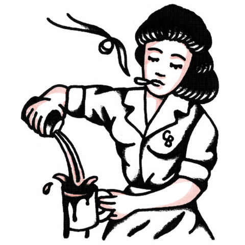 "Coffee Beer Sergey Tattoo Wizard ""Sad Waitress"""