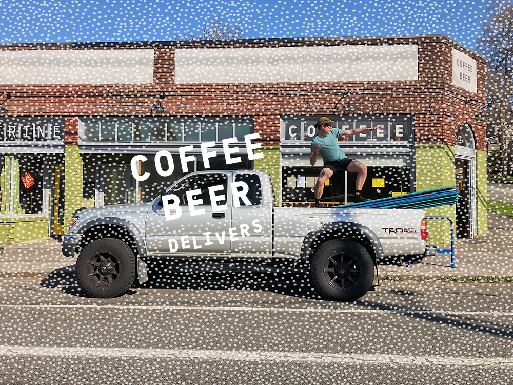 COFFEE BEER DELIVERS