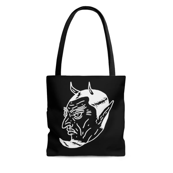 """Devil In The Decaf"" AOP Tote Bag"