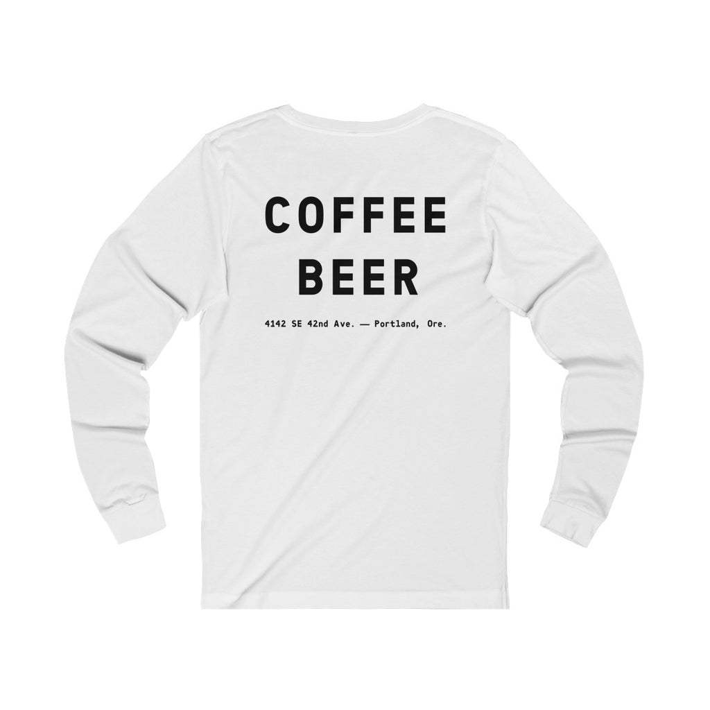 """Devil In The Decaf"" Unisex Jersey Long Sleeve Tee"