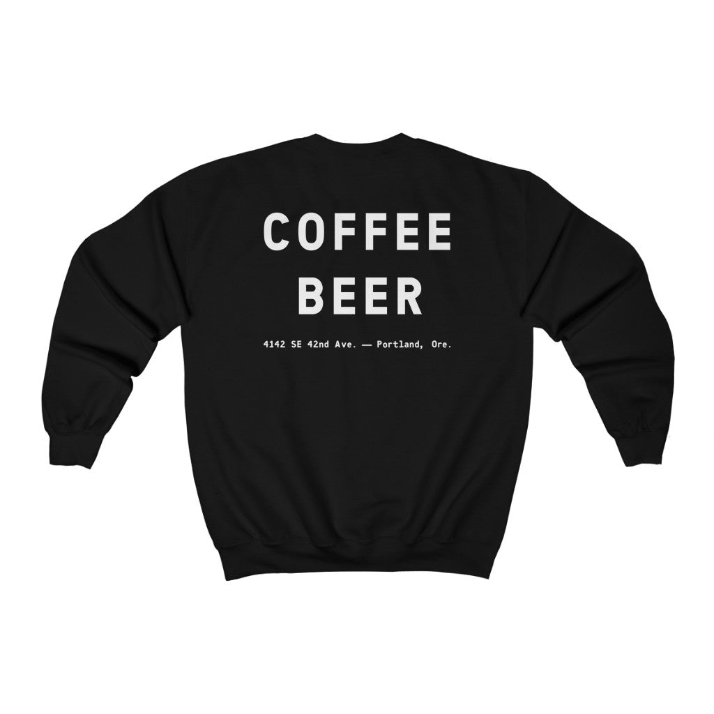 """Devil in the Decaf"" Unisex Heavy Blend™ Crewneck Sweatshirt"