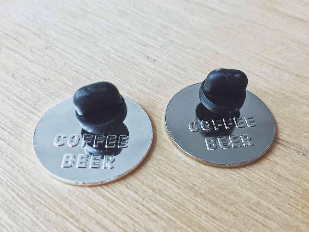 "I Need A Drink & Best Part of Your Day enamel pin set, 1.25"" Hard Enamel Pin Round from Coffee Beer"