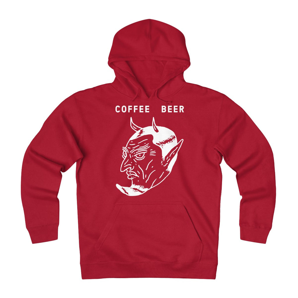 """Devil In The Decaf"" Unisex Heavyweight Fleece Hoodie"