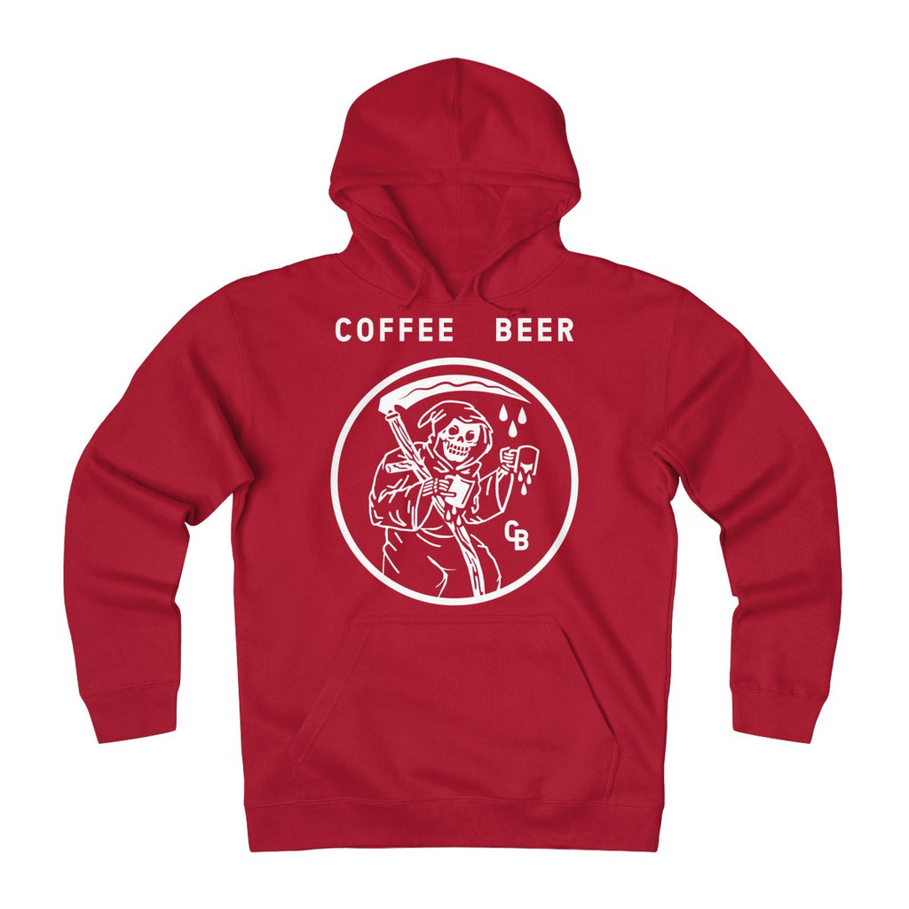 """Beer Before Decaf"" Unisex Heavyweight Fleece Hoodie"