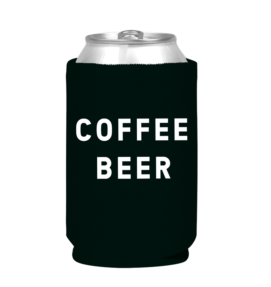 "Coffee Beer ""Beer Before Decaf"" Can Koozie, Artwork Side"