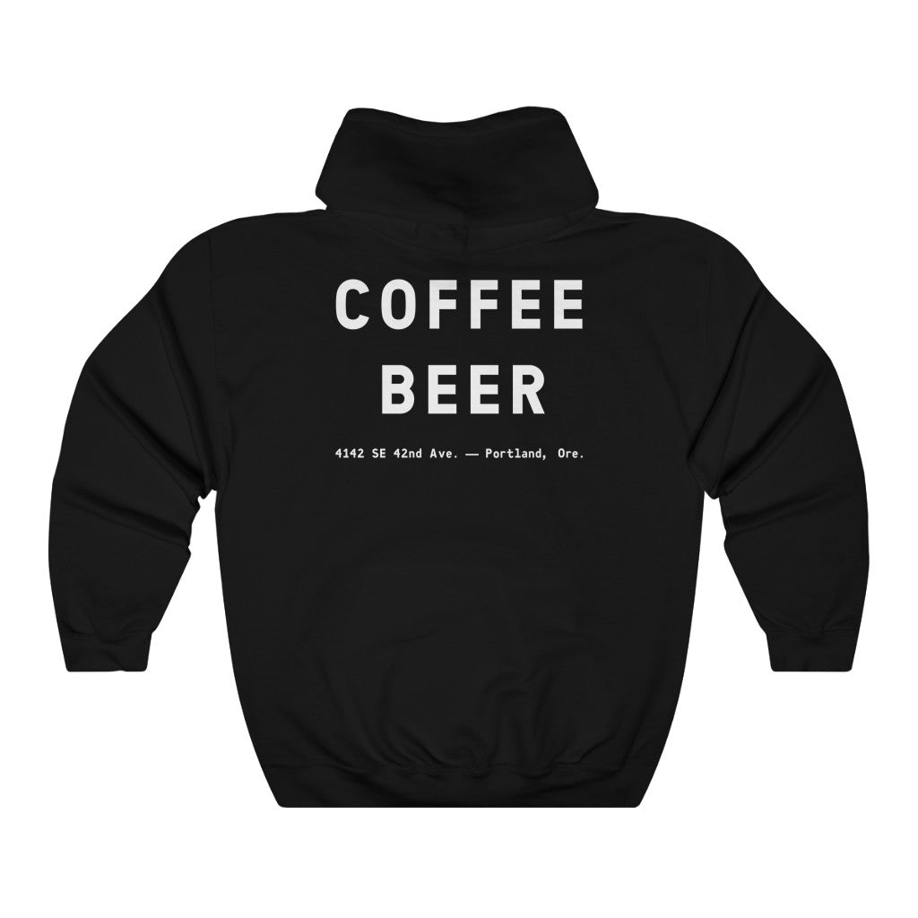 """Devil in the Decaf"" Unisex Heavy Blend™ Hooded Sweatshirt"