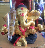 Divine Deity Diffuser:  Red, Black & Gold Ganesh Incense Burner!