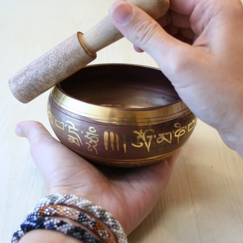 Yoga Tibetan Singing Bowl Himalayan Hand Hammered Chakra Meditation