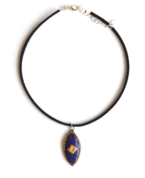 Navy Jaipur Choker - We Wear Gems