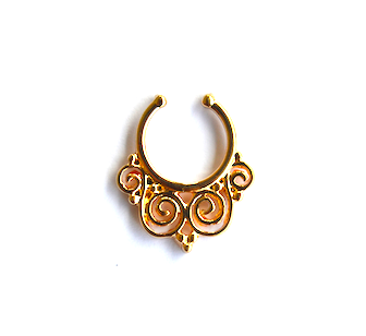 Twirl Gold Septum - We Wear Gems