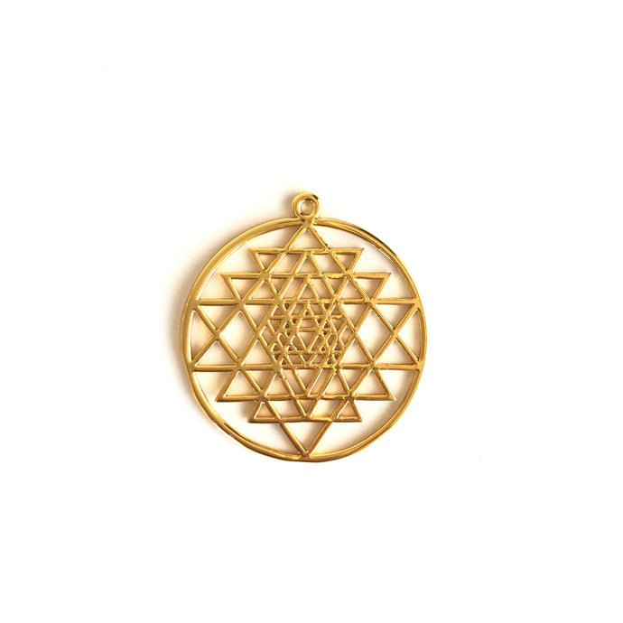 Sri Yantra Gold 1 (Pendant Only) - We Wear Gems