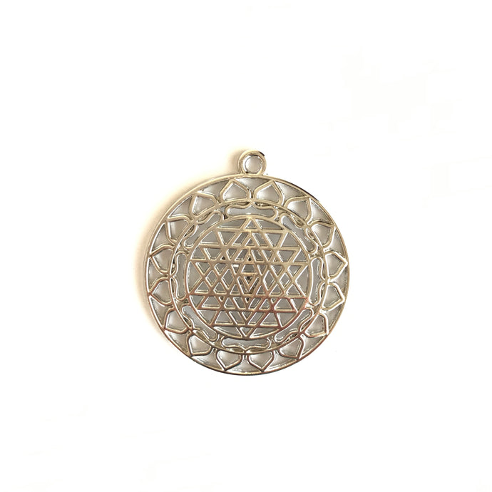Sri Yantra Silver 3 (Pendant Only) - We Wear Gems