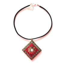 Red White Jaipur Choker - We Wear Gems