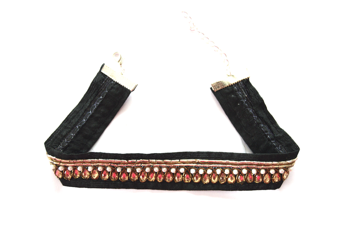 Droplet Black and Gold Choker - We Wear Gems
