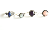 Coloured Stone Vintage Ring Set (4 pieces) - We Wear Gems