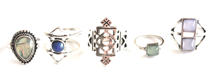 Aztec Ring Set (5 pieces)