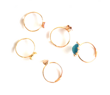 Coloured Gold Ring Set (5 piece) - We Wear Gems
