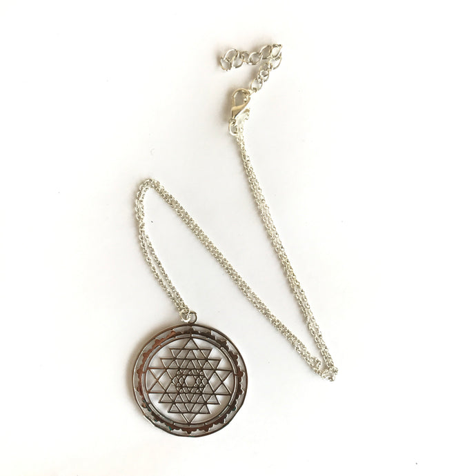 Sri Yantra Necklace 3 - We Wear Gems