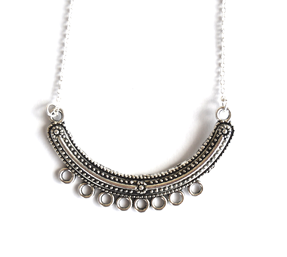 Half Moon Necklace Large - We Wear Gems