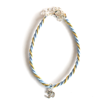 Light Blue Gold / Silver Rakhee - We Wear Gems