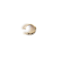 Round Stone Clip-On Nose Ring - We Wear Gems