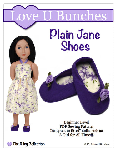 "Plain Jane Shoes (for 16"" dolls such as A Girl for All Time®)"