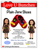 "Plain Jane Shoes (for 13""-14"" dolls such as Hearts for Hearts Girls® and Les Cheries®)"