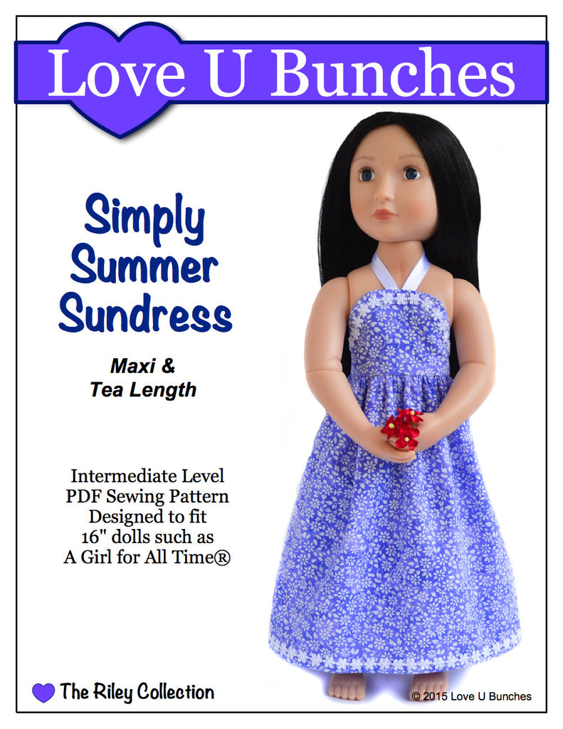 "Simply Summer Sundress (for 16"" dolls such as A Girl for All Time®)"
