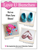 "Plain Jane Shoes (for 18"" dolls such as American Girl®)"