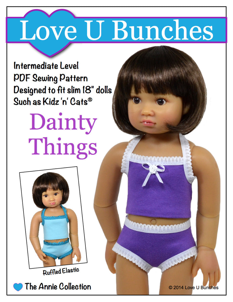 "Dainty Things (for slim 18"" dolls such as Kidz 'n' Cats®)"