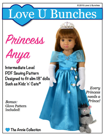 "Princess Anya (for slim 18"" dolls such as Kidz 'n' Cats®)"