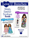 "Simply Summer Sundress Bundle (for 18"" dolls and 6"" mini dolls)"