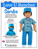 "Scrubs (for 18"" dolls such as American Girl®)"
