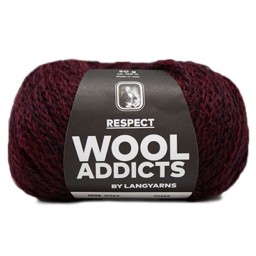 WOOLADDICTS Respect Burgundy 1025.0064