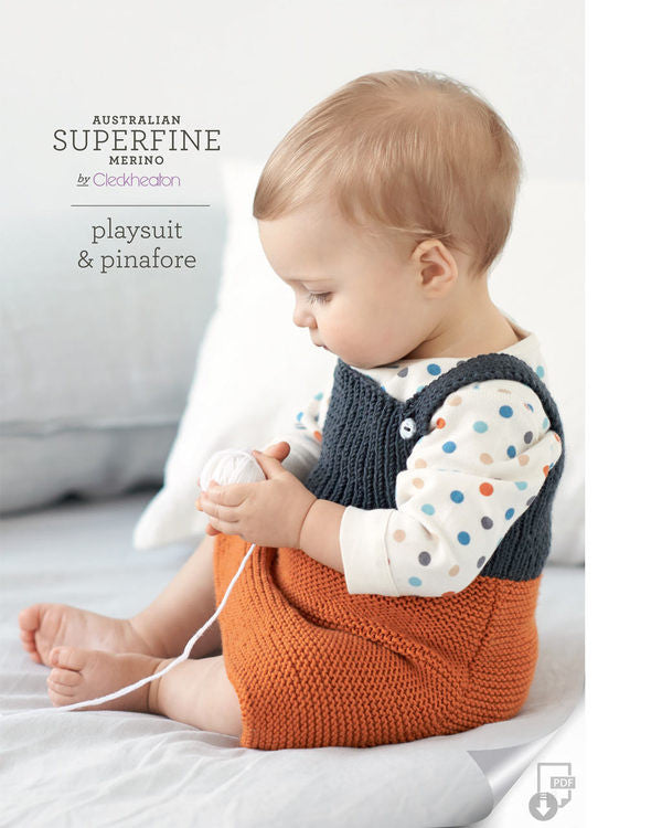 Knitting Pattern Playsuit & Pinafore