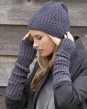 Knitting Pattern Brioche Beanie & Mitts
