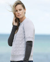 Knitting Pattern Moss Cable Sweater