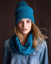 Crochet Pattern Ridge Cowl & Beanie