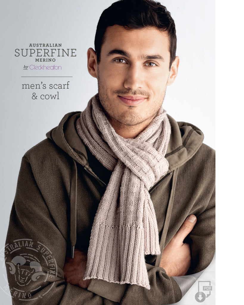 Knitting Pattern Men's Scarf & Cowl