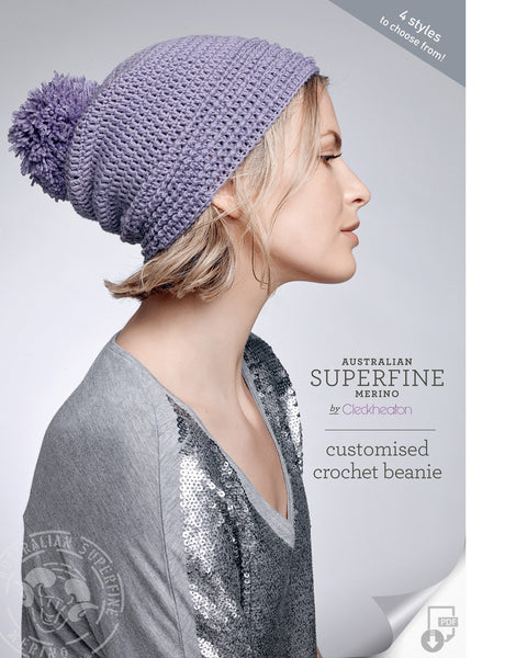 Crochet Pattern Customised  Beanie
