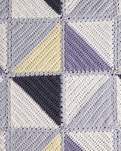 Crochet Pattern Baby's Triangle Rug