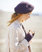 Knitting Pattern Fisherman's Rib Beret & Mitts