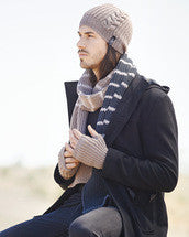 Knitting Pattern Men's Beanie, Mitts & Scarf