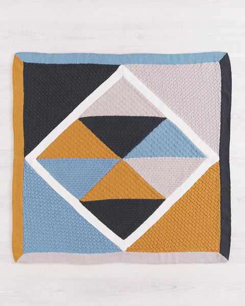 Knitting Pattern Geometric Throw