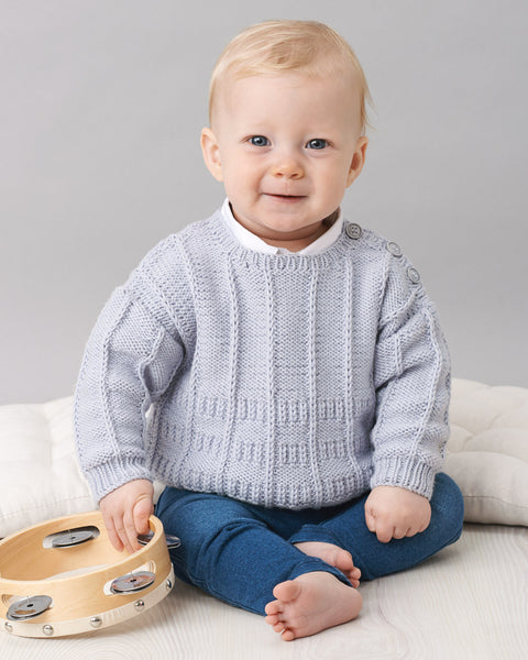 Knitting Pattern Crew Neck Jumper