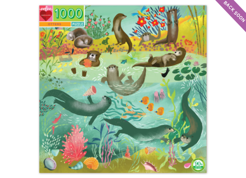 eeBoo 1000 Pc Puzzle - Otters
