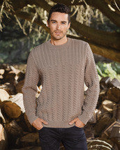 Knitting Pattern Men's Textured Pullover