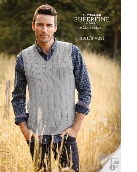 Knitting Pattern Men's Vest