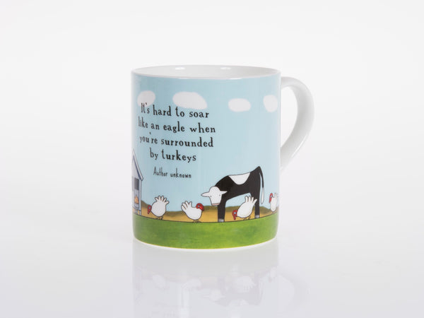 Red Tractor - Bone China Cup Getting Grounded